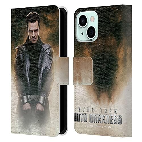 Head Case Designs sous Licence Officielle Star Trek Khan Couvertures de Magazine dans Obscurité XII Coque en Cuir à Portefeuille Compatible avec Apple iPhone 13 Mini