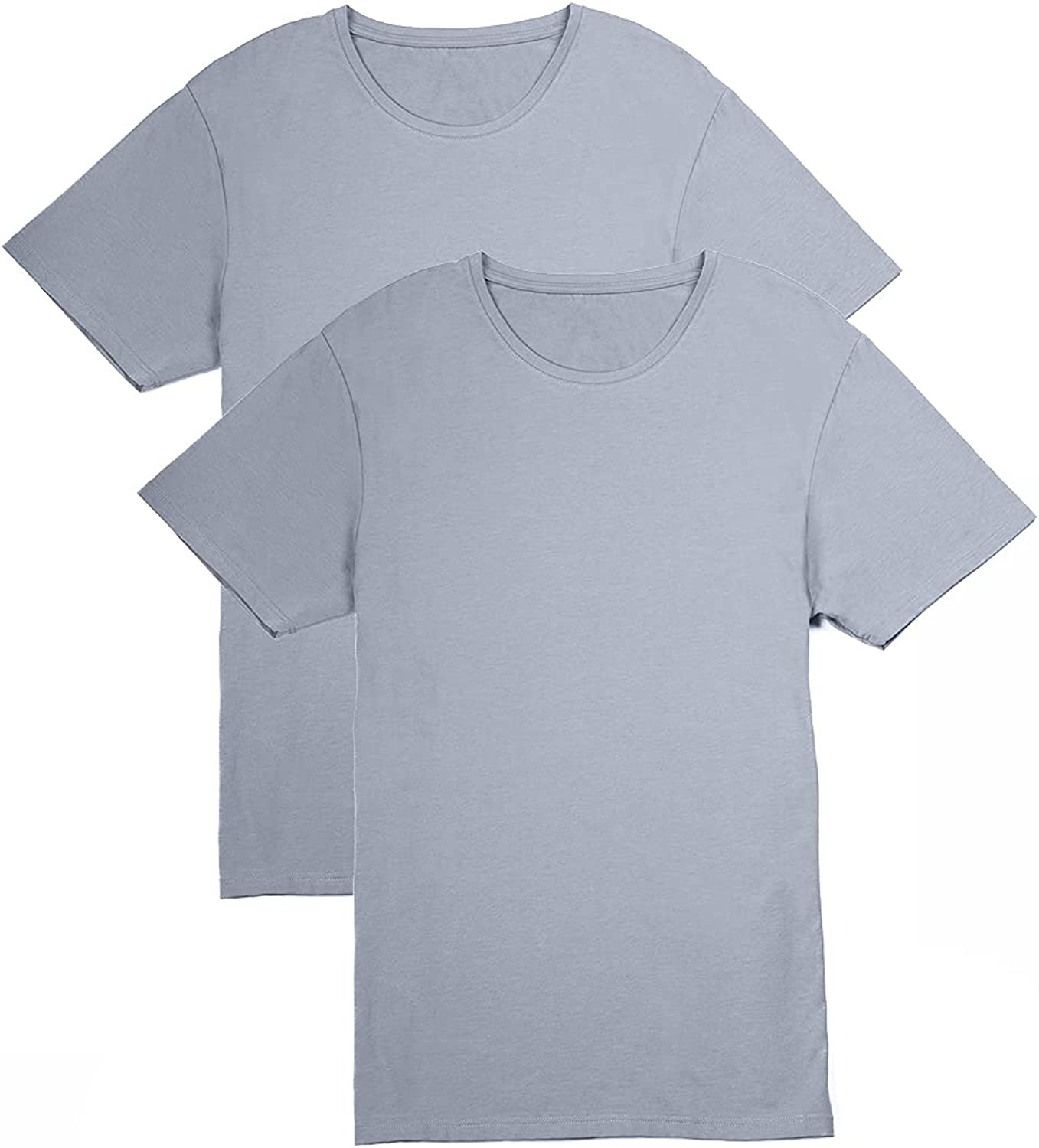 Fishers Finery Men's Over item handling ☆ Classic Crew Tucked Soft Comfort Neck Keep