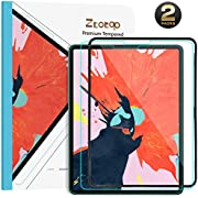 Ztotop Screen Protector for iPad Pro 12.9 Inch 2018(3rd Gen), [2 Pack] Face ID & Pencil Compatible/Installation Frame/Scratch Resistant 9H Tempered Glass Screen Protector for iPad Pro 12.9 Inch 2018