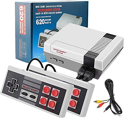 Retro Game Console, Classic Handheld Video Game Console, Built-in 620 in 1 FC Classic Video Games- AV Output Mini NES Console Plug and Play with 2 Controllers for Kids and Adults, Birthday Gift.