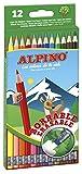 Alpino AL013654 - Estuche 12 lápices borrable, Única