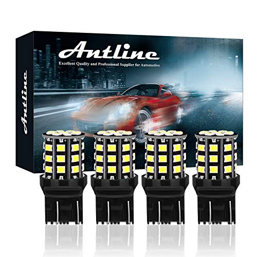 Antline 7443 7440 T20 992 7441 7444 W21W LED Bulbs White, 12-24V Super Bright 1000 Lumens Replacement for Backup Reverse Lights, Tail Brake Lights, Turn Signal Lights (Pack of 4)