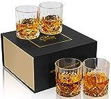 KANARS Old Fashioned Whiskey Glasses with Luxury Box - 10 Oz Rocks Barware For Scotch,...