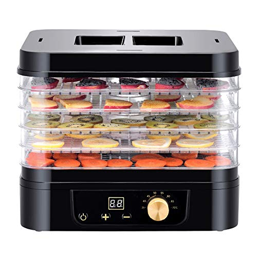 Great Price! LEFJDNGB Dehydrators For Food,5-Tray Electric Food Dehydrator with Temperature Controll...