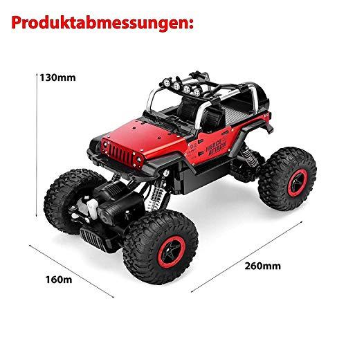 RC Auto kaufen Crawler Bild 5: Ferngesteuertes Autos,RC Auto Rock Crawler,1:18 Ferngesteuertes Monstertruck,4WD Elektrisches Offroad Fahrzeug (Blau)*