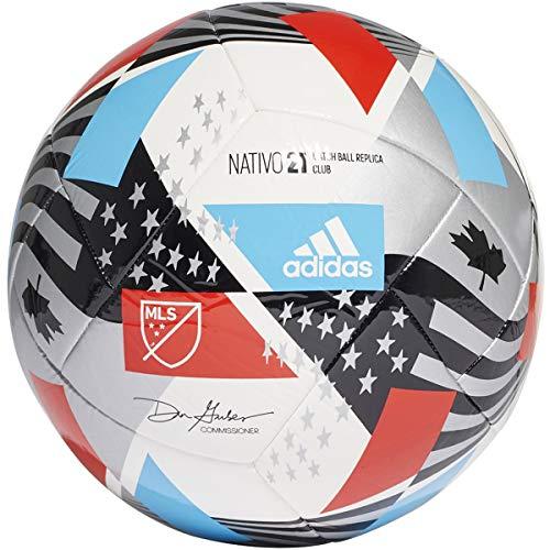 adidas MLS Club Soccer Ball White/Black/Silver...