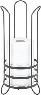 mDesign Soporte para el papel higiénico de pie – Práctico portarrollos de baño de metal para 3 rollos de repuesto – Porta ...