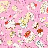 Rosa Wachstuch mit Kuchen und Teig
