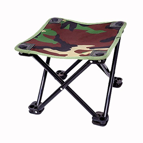 Camo Angeln Stuhl Klapphocker hoher Intensität Stahl Kreuz tragbar outdoor Camping Stuhl,, unisex, camouflage