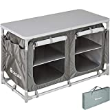 TecTake 800585 - Cocina de Camping, Aluminio, Ligera, Plegable - Varios Modelos (Tipo 4 | No. 402922)