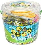 Perler Beads Emoji Bucket 8500pc, 6.5''L x 6.5''W x 6''H