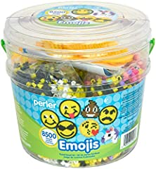 Includes (1) plastic bucket that contains (8500) colorful beads, (2) pegboards, ironing paper and a pattern sheet Plastic storage container measures 6.5''L x 6.5''W x 6''H The bucket is perfect for storing your reusable pegboards, beads, and accessor...