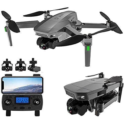 GZTYLQQ Drone con Doppia Fotocamera 4k, Trasmissione in Tempo Reale di gesti, Selfie, Altezza Fissa, Drone Pieghevole a Quattro Assi, Adatto per Adulti, Bambini e Principianti con 2 batterie