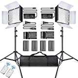 SAMTIAN LED Video Luz 600 LED Cámara/Kit de luz de...