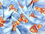Findet Nemo Print Baumwolle Disney Stoff, blau, Meterware