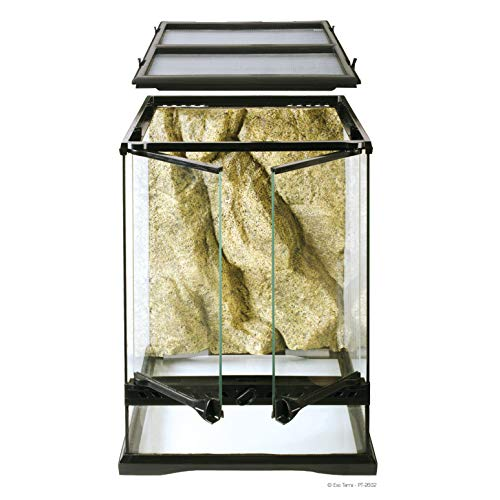 Exo Terra Glass Terrarium Kit, for Reptiles and Amphibians, Mini Tall, 12 x 12 x 18 Inches, PT2602A1