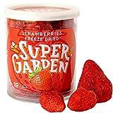 Super Garden fresa entera liofilizada - Snack saludable - Producto 100% puro y natural - Apto para veganos - Sin azúcares, aditivos artificiales ni conservantes añadidos - Sin gluten - No OMG