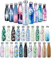 Vacuüm Geïsoleerde drinkfles Roestvrij Stalen Waterfles Dubbelwandige thermosfles 500ml/750ml/1000ml - BPA-vrij, Lekvrij...