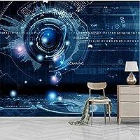 Iusasdz カスタム任意のサイズ壁画壁紙 3D 抽象技術幾何学的な写真の壁紙リビングルーム Ktv バー壁画 3 D-250X175Cm
