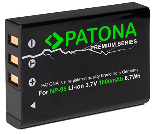 Patona Premium Akku (1800mAh) - Ersatz für Akku Fujifilm NP-95