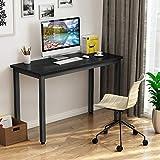 Mesa de Ordenador Escritorio para ordenador 100 x 50 x 75 cm, con tablero grueso y marco de metal resistente, mesa Escritorio de oficina Estudio para oficina hogar (negro)