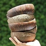 GJNVBDZSF Ensaladera Cáscara de Coco Natural Recetas vegetarianas Cuenco de Postre, Cuenco de Sopa Gachas de Avena para el Desayuno, Merienda, Batidos Compota de Frutas secas Reutilizable