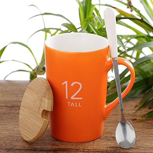 Creative Mugcap tazas de cerámica con tapa boca Desayuno Continental Café Taza...