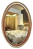 QHHALXZ Espejo de Maquillaje Espejo de Pared Ovalado Vintage Espejo de tocador de Maquillaje Decorativo Espejo de Pared HD para baño Baño Pasillo Sala de Estar Espejo de baño (Tamaño: 40 × 6
