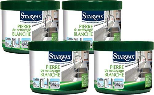 Starwax 30600piedra de limpieza Blanca 100% de origen natural–Juego de 4