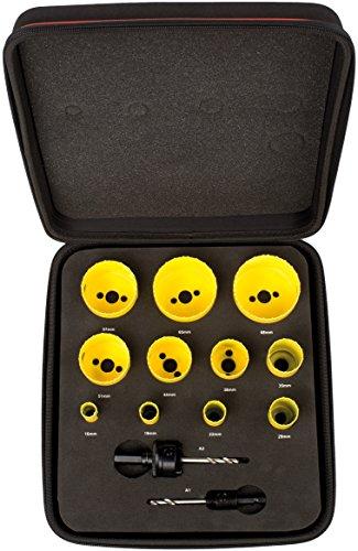 Starrett kfc11022Deluxe para sierra perforadora eléctrica de fontanero (Juego de 13)