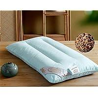 Almohada completa de trigo sarraceno / almohada de concha de trigo sarraceno core / [almohada] / [adulto], [individual], [dormitorio], almohada dura baja / funda de almohada-A 35x36cm (14x14 pulgadas)