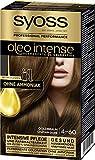 SYOSS Oleo Intense Permanente Öl-Coloration 4-60 Goldbraun, mit pflegendem Öl & ohne Ammoniak, 3er...