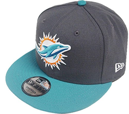 New Era NFL Miami Dolphins Graphite Snapback Cap M L 9fifty Limited Edition