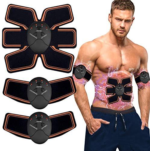 EMS Trainingsgerät, EMS Muskelstimulator,Professional Bauch Muskel Trainer Elektrisch für Herren Damen,Abnehmen und Muskeln aufbauen,Tragbarer Muskel Trainer