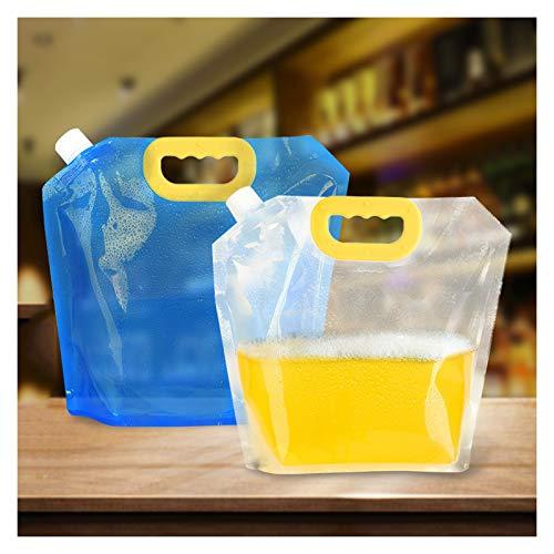 NYKK Embalaje portátil de Almacenamiento de Agua Bolsa de Hogares Suave Plegable Bolsa de Agua Bolsa de plástico al Aire Libre Bolsa de Cerveza al Aire Libre Bolsa