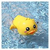 ZHIZI 婴儿・智育玩具 赤ちゃん風呂のおもちゃ、漫画形の黄色いアヒルのお風呂の水に揺れる (Size : A)