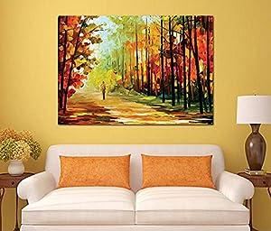 Landscape and Nature Wooden Tableau, 175X175 Cm - 1 Piece