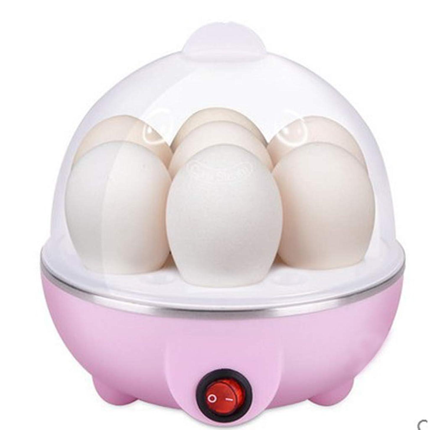 小屋七時半ポテトFormemory ゆでたまご ゆで玉子器 ゆで卵器 ゆで玉子ケース 玉子焼き器 卵蒸し器 卵を7個煮込む からむき たまご 半熟 エッグお弁当 キッチン用品 食器 調理 蒸し器用 (ピンク)