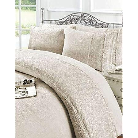 Teddy Fleece Duvet Covers Super Soft Cozy Bedding Sets Grace Embroidery Lace