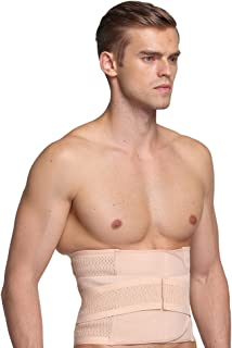 BaronHong Men Waist Cincher Trimmer Trainer Belt Breathable Back Brace Belly Wrap