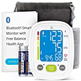 Greater Goods Smart Digital Wrist Blood Pressure Monitor, for Home or On-The-Go, with iPhone or Android Connectivity via Bluetooth and Premium Cuff, Designed in St. Louis
