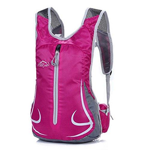 SINCERE@ Équitation sac à dos Casual Male sac sac à dos de sport cycliste féminine sac à bandoulière sac à dos en plein air ultra-léger (rose rouge)