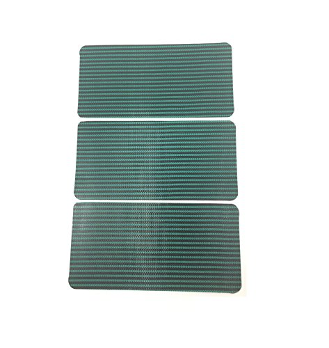 """Southeastern 3 Pack Pool Safety Cover Patch Green Mesh 4"""" x 8"""" Self Adhesive"""