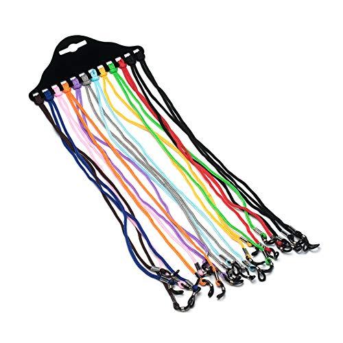 NYKKOLA 12 piezas de cordón para gafas de sol de lectura de gafas de sol de nailon trenzado, retenedor de gafas