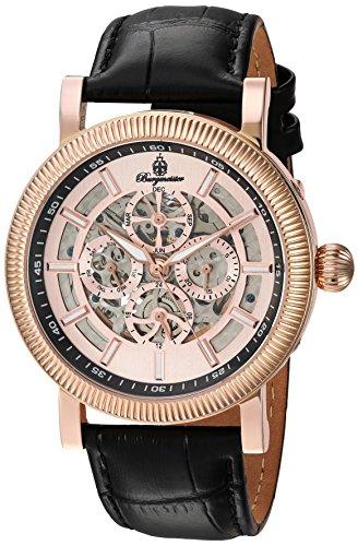 Burgmeister Armbanduhr für Herren mit Analog Anzeige, Automatik-Uhr und Lederarmband - Wasserdichte Herrenuhr mit zeitlosem, schickem Design - klassische Uhr für Männer - BM221-362 Omaha