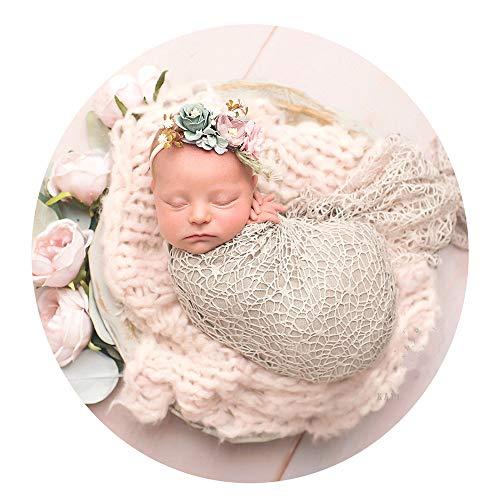 Wuxingqing Pasgeborenen baby zuigeling fotografie steun kostuum wikkelen garen doek deken pasgeborenen jongens meisjes baby fotografie rekwisieten (geen hand) rekwisiet foto-foto-fotografie