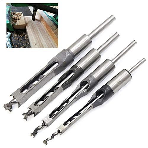 HSS Fresa espiral bits puestos for las herramientas de bricolaje for trabajar la madera ESCOPLEADORA Taladro Brocas for agujeros cuadrados Taladro Brocas ESCOPLEADORA Cincel brocas de perforación cuad