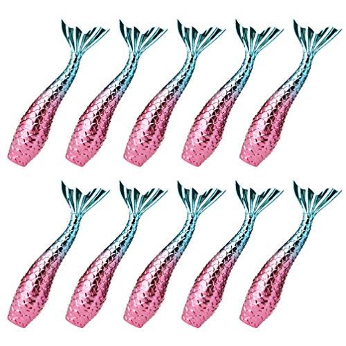 FRCOLOR Vide Brillant À Lèvres Tubes avec Rechargeable Baume à Lèvres Sirène En Forme de Brillant À Lèvres Tubes Tubes Vides pour Lotions Et Crèmes 10 Pièces