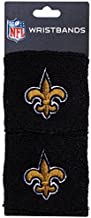 Franklin Sports New Orleans Saints NFL Wristbands - Youth NFL Team Logo Wristbands - Great for Costumes and Uniforms - Pair of Wristbands