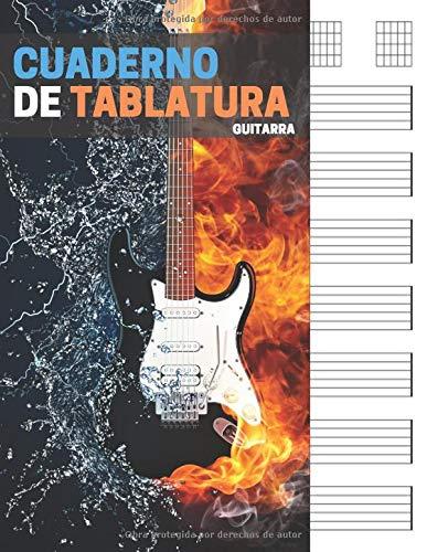 Cuaderno de tablatura guitarra: 7 tabs por página. Ideal para músicos, estudiantes de guitarra, profesores de musica (110 páginas, A4). Libreta, Cuaderno tablaturas, Cuaderno de musica para guitarra